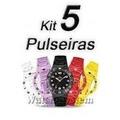 Kit Relogio Troca Pulseiras C/ 5 Cores (r$50,00)