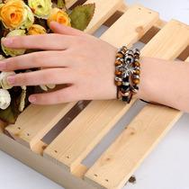Pulseira Bracelete Tibet Hippie Couro Unissex Frete Grátis