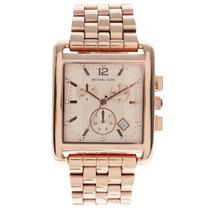 Relógio Luxo Michael Kors Mk3142 Orig Chron Anal Ouro Rosé!!