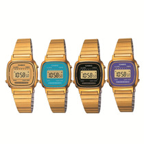 Relógio Casio La670 Dourado Mini Várias Cores Vintage Retrô
