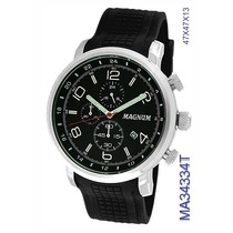Relógio Magnum Chronograph Ma34334t Calendário 100 Metros Nf
