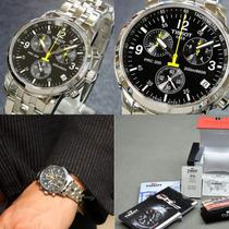 Relógio Tissot Prc200 Preto Branco Azul Original Prc 200