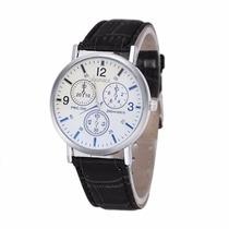 Relógio Masculino Preto Social Marca Honhx Barato E Bonito