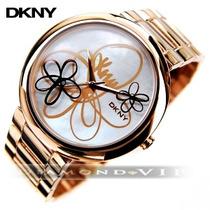 Relógio Dkny Feminino Cobre Ouro Rosê Donna Karan Flores