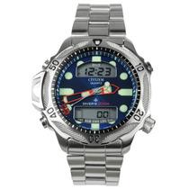 Relógio Citizen Aqualand Azul Jp1010-51l Metal Aço Inox