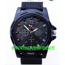 Relógio Swiss Army Militar Suiço Esportivo Com Caixa