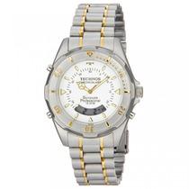 Relógio Technos Aço Masculino Anadigi Bicolor T20557/9b