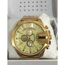 Relógio Diesel Dourado Manual+ Caixa+ Sedex Gratis