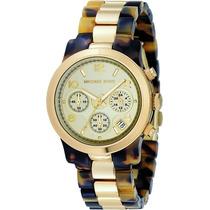 Relógio De Luxo Michael Kors Mk5138 Chronograph Analógico!