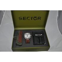 Relógio Sector Caixa Com Extra Acessórios