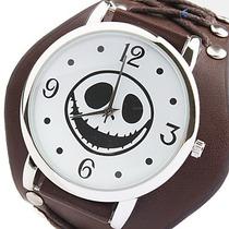 Relógio Rock Frete Grátis. Bracelete De Couro Face Rock.