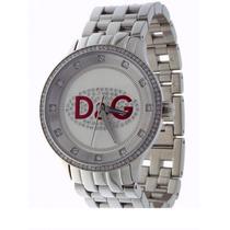 D&g Dolce & Gabbana Relogio Unissex Com Strass Dw0144 Neymar