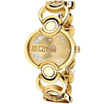Relógio Feminino Just Cavalli Italy Dourado Ouro Luxo Mk