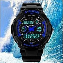 Relógio Shock Digital/analógico P/mergulho 50mt Frete Grátis