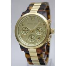 Relógio Michael Kors Mk5138 Tartaruga Com Caixa Frete Grátis