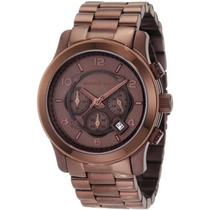Relógio Michael Kors Mk8204 Chocolate Com Caixa E Manual.