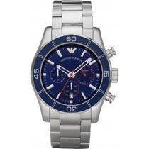Relógio Empório Armani Ar5933 Azul Sport Em 12 X Sem Juros!