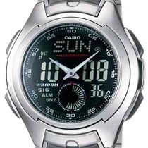 Relógio Casio Aq-160 Wd 5 Alarmes Horário 27 Cidades Pt