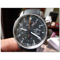 Fortis Pilot Cronografo Automatico Valjoux Borracha