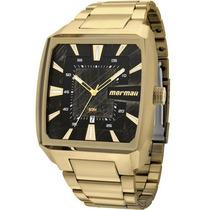 Relógio Mormaii Masculino Dourado Quadrado Mo2315am/3p