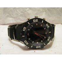 Relógio U.s. Polo Assn. Us8433 Preto Pulseira Metal