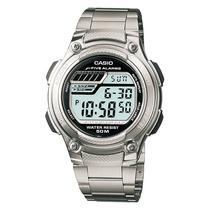 Relogio Casio W-212 Hd 5 Alarmes Timer Cronometro Wr-50m Aço