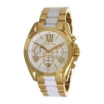 Relógio Mk5743 Original Michael Kors Dourado E Branco