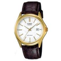 Relógio Casio Mtp-1183 Q-7a Caixa De Aço Pul. Couro B