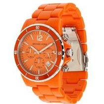 Relógio Michael Kors Mk5273 Orange Oversized 45mm
