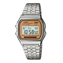 Relogio Casio A159wa-9 Gold Led Cronômetro Alarme Calendário