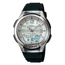 Relógio Casio Aq-180 W Digital Análogo Mundial Telememo Bo B