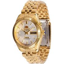Relógio Orient Automático 469ec7 Dourado Ouro Meca Luxo