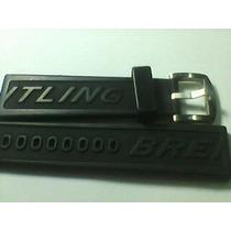 Pulseira Relógio Breitiling Em Borracha Siliconada 22mm Orig