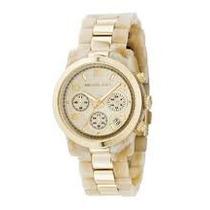 Relógio Mk Modelo 5139 Tamanho Médio Madre Pérola