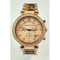 Relógio Luxo Michael Kors Orig Mk5538 Chron Anal Tortoise!!!