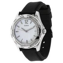 Relógio Guess Pulseira De Borracha Com Swarovsky U75032l2