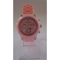 Relógio Feminino Prata & Rosinha! ***modelo Novo***