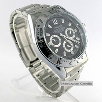 Relógio Masculino Chenxi Estilo Luxo Prata Quartz