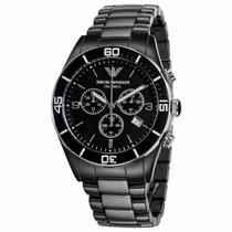 Relógio Emporio Armani Ar1421 Cerâmica Preta Frete Grátis.