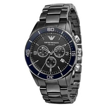 Relógio Emporio Armani Ar1429 Cerâmica Preto Frete Grátis.