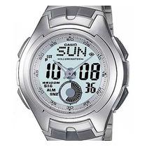 Relógio Casio Aq-160 Wd 5 Alarmes Horário 27 Cidades Br