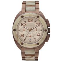 Relógio Luxo Michael Kors Mk5594 Orig Chron Anal Brown!!!