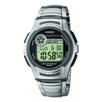 Relogio Casio W-213 D 5 Alarmes Timer Cronometro Wr-100m Aço