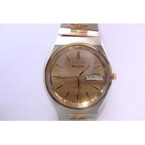Relógio Clássico Bulova Swiss Made Aço-ouro