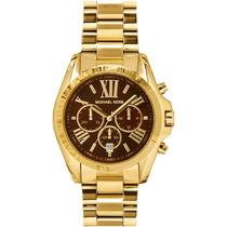 Relógio De Luxo Michael Kors Bradshaw Mk5502 Ouro Imaculado!