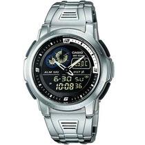 Relógio Casio Aqf-102 Wd Termômetro Wr100m Memória Aqf102 Pt