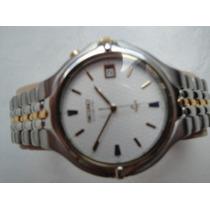 Lindo Relógio Seiko Aço Inox Kinetic 5m42-0a69.