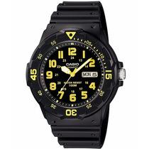 Relógio Casio Mergulho Mrw-200 H-9 Calendário Wr100 Metros A