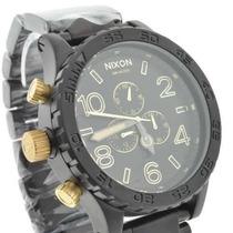 Relógio Nixon Preto Dourado Men´s 51-30+sedex Grátis+garant