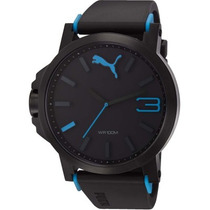 Relógio Puma Ultrasize Preto/azul Novo